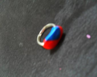 original and colorful ring made of polymere clay