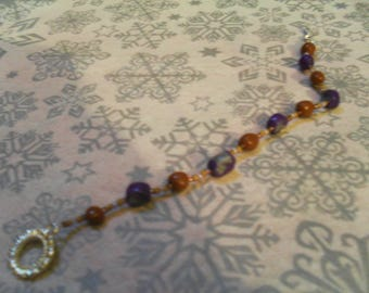 beautiful bracelet Brown, purple and gray