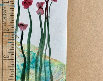 Two Tiny Flowers Miniature Painting