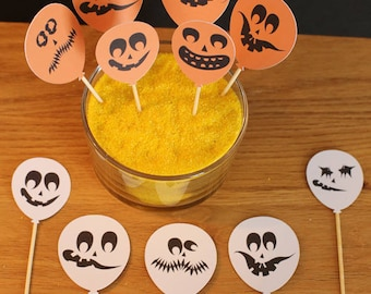 Set of 11 Toppers - Halloween Theme - shaped balloon