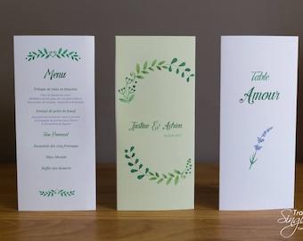 Menu & table name - Provence Theme