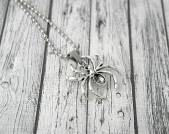 Jewelry men necklace, spider, Christmas gift idea pendant charm