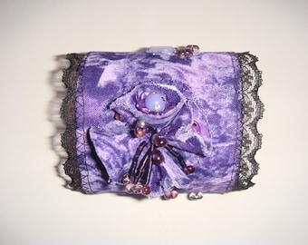 Bracelet cuff violetta Ribbon lace