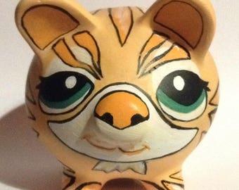 piggy bank pig ceramic orange Tiger