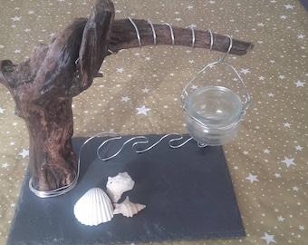 Candle holder or burn Driftwood stump perfume