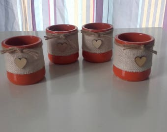 set of 4 decorative jars