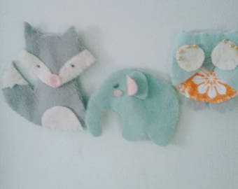 Felt Animal Bookmarks And Magnets