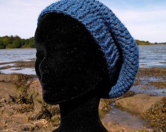 """Hat"" waist 56 cm Crochet of acrylic blue/denim"