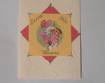 2 - Card Ladybug 'mother's day'