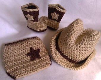 Crochet cowboy outfit