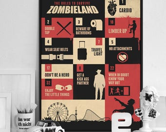 Zombie art deco - Banner for Zombieland Survivor completo wall guide