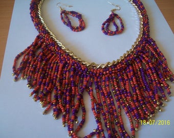 published in seed Bead Necklace and Earring