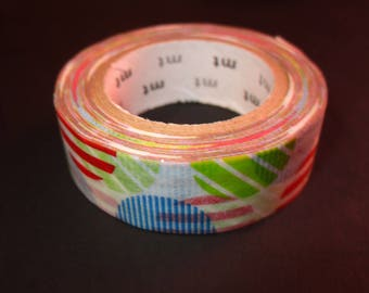 masking tape roll round multicolor stripes