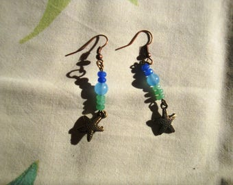 Winter sea earrings