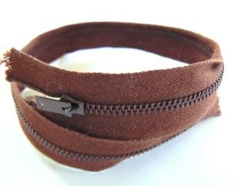 Brown 25 cm zip zipper filcolor 50-70 years