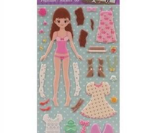 Stickers to foam embossed Dress Up Kate - APLI Kids - Ref 14573