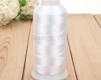 White 1 reel 5000 m thread sewing sewing Polyester within 15 days