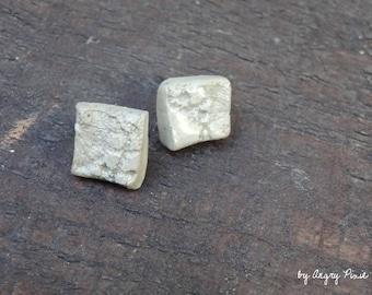 Square ceramic earrings