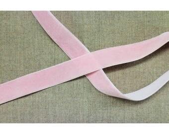 Pink velvet Ribbon - 25 mm - light