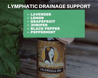 2 oz. Lymphatic Calendula Massage Oil