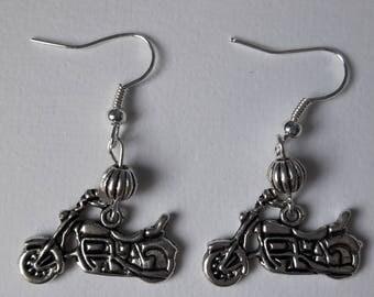 Earrings with Harley motorcycle