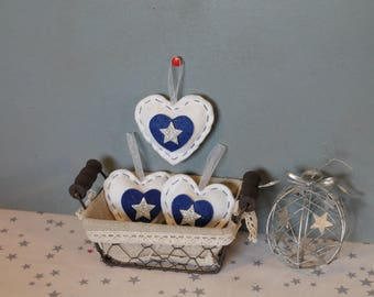 White and blue ornament
