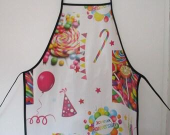 Gift birthday woman anniversary printed oilcloth apron