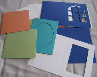 Set of cards and envelopes, scrapbooking, cutting