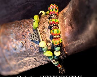 "Bracelet ""Kodari"" ethnic chic and refined-""Stops Nepalese"" Collection-"