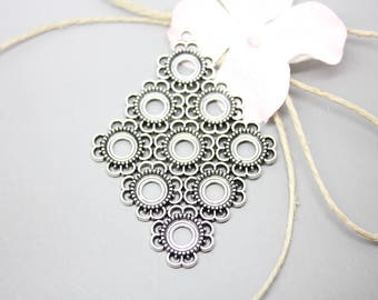 5 magnificent pendants silver diamond antique ring 8mm - SC46651-