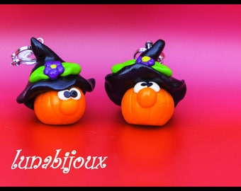 HALLOWEEN pumpkin clip-on earrings