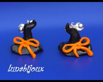 Polymer clay witch Hat HALLOWEEN earring