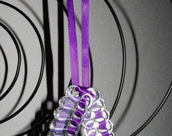 (Purple and violet) cans bottle cap pendant necklace