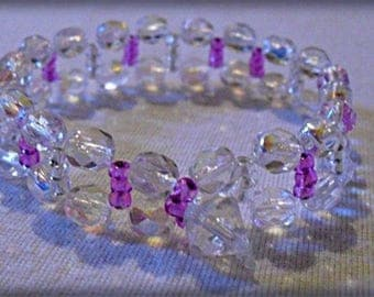 Faceted beaded bracelet