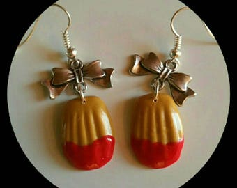 Magdalen earrings has Strawberry polymer clay