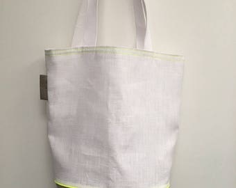 Tote bag, lightweight linen