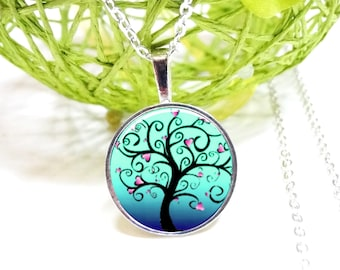tree of life necklace turquoise hearts