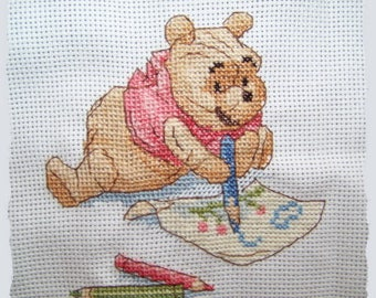 Pooh counted cross stitch Kit, drawing