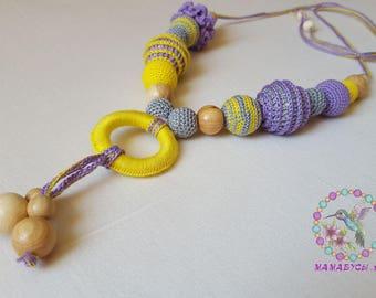 Rapunzel/Organic Nursing Necklace/Teething Toy/Breastfeeding necklace