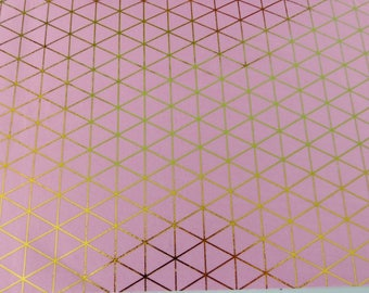 repositionable adhesive fabric coupon 15 x 21 cm rose gold triangle