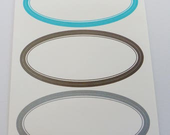 set of 15 oval ultra resistant 89 X 41 mm