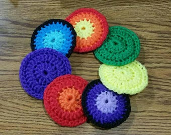 Dish Scrubber/ Nylon Dish Scrubber - set of 2 - choose your own color / Crochet Pot Scrubber
