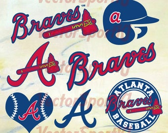 Atlanta Braves SVG, Braves Baseball, Braves Baseball DXF,  Atlanta Braves Baseball Clipart, Braves Baseball Clipart, Clipart Svg Png Eps