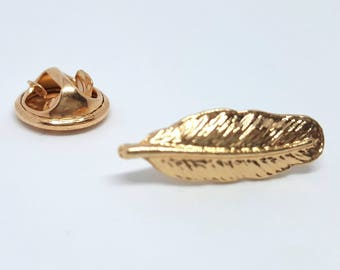 Pin badges feather gold biijoux accessories