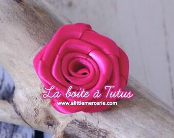 Applique diy headband belt RS1 strapless pink satin fabric Flower - Pink