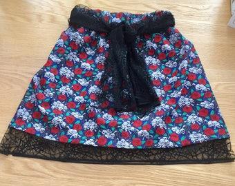 Beautiful handmade girls skull skirt