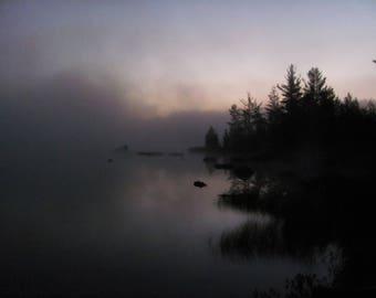 Morning Mist, Maine North Woods- fine art nature photograph
