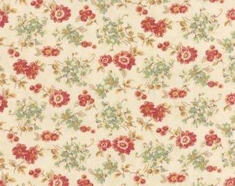 patchwork flowers beige background 4410411 Moda fabric