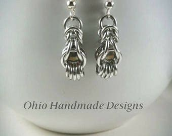 Chainmaille Captive Bead Earrings