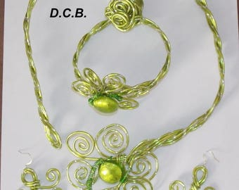 ALUMINUM WIRE LIME GREEN SET